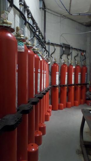 Fire suppression tanks