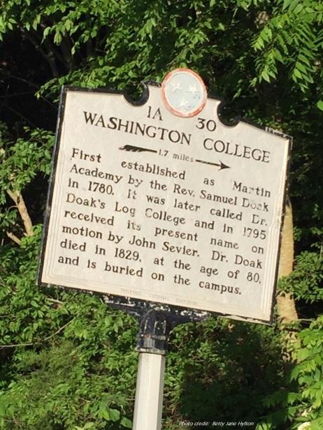 Washington College - w credit