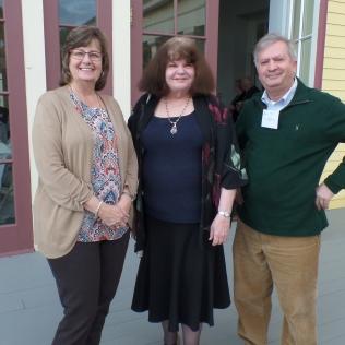 Donna Briggs, Sharyn McCrumb and Ned Irwin