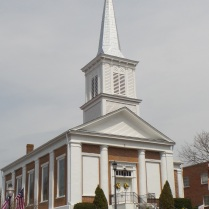 The First Baptist Church in Jonesborough was built in 1852. The church was founded in 1842. William Cate was the first minister of this church.