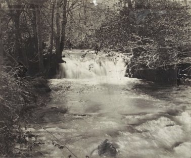 Boones Creek Waterfalls are said to be the falls under which Daniel Boone hid from hostile Indians. Photo undated.