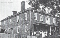 """The Byrd Brown house, located on Taylor Bridge Road near the Nolichucky River. Photo is undated, but shows the home in it's """"glory days."""""""