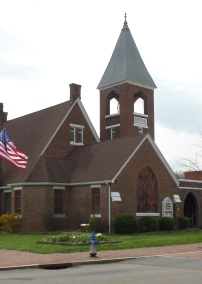Central Christian Church, built in 1881 was first a Presbyterian Church until the 1950's, when it was purchased by the Christian Church.