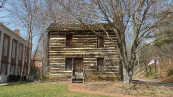 The cabin that sits next to the Chester Inn was built by Revolutionary War soldier, Christopher Taylor around 1778. Originally located about a mile southwest of Jonesborough, it is one of the oldest buildings in Washington County. It was moved to the present site in 1974.