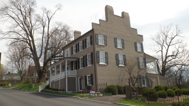 Known as the Gammon - Hoss house, this home was built around 1848. William Gammon owned the property before selling it to John M. Hoss in 1863.