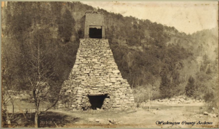 "The Iron Blast Furnace in the Embreeville area was built in the early 1800's and was destroyed in the ""great flood"" of May 1901."