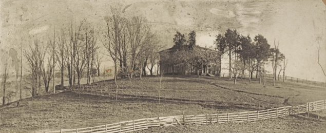 Undated photo of the N. T. Jackson residence, located on a hill, south of Jonesborough. The home was built before 1850.