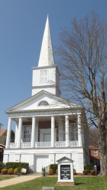 The Jonesborough Presbyterian Church as founded in 1790. The present building was constructed on this site in 1847.