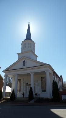 Jonesborough United Methodist Church was organized in 1822 and work began on the building in 1845.