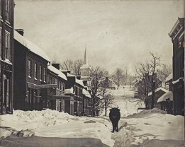"Main Street, Jonesborough, following the ""Great Blizzard"" of 1886."