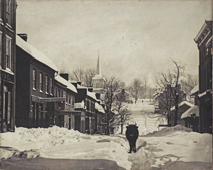 "Main Street, Jonesborough, following the ""Great Blizzard"" of 1886."