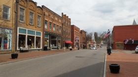 Main Street looking east towards the Baptist Church