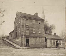 "The ""Manumission Intelligencer"" and ""The Emancipator"" building, located on Main Street in Jonesborough. These two newspapers were the first abolition publications in America and were published in this building by Elihu Embree, beginning in 1819."