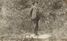 Unidentified gentleman, unidentified location. If you can identify him, please contact the archives office.