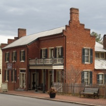 """Known as the Blair-Moore House, this building was build around 1865. There have been several owners through the years and it now serves as a """"Bed and Breakfast."""""""
