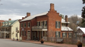 "Known as the Blair-Moore House, this building was build around 1865. There have been several owners through the years and it now serves as a ""Bed and Breakfast."""