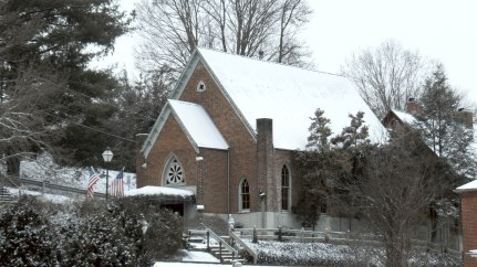 The First Christian Church was completed in 1874, built by William Fleming, master carpenter. After the congregation moved into a new building and this building eventually became the Parson's Table Restaurant. It is no longer in use.