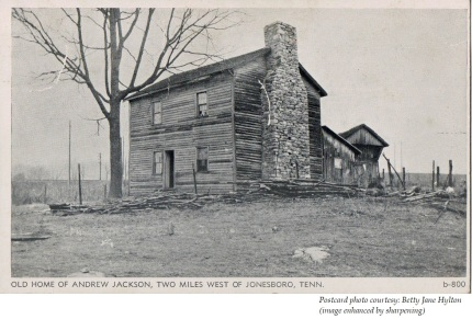 The Christopher Taylor cabin was moved from its original site in 1974 and now sits across the street from the archives in downtown Jonesborough.