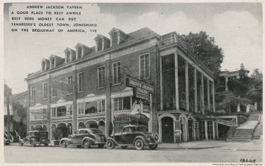 The Andrew Jackson Tavern once stood on the corner next to the Chester Inn on Main Street.