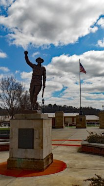 Doughboy Monument at Memorial Park, Johnson City.
