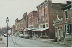 Jonesborough looking west on Main Street. Postcard undated.