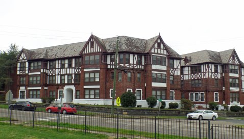 "Montrose Court Apartments, often called ""Little Chicago."""