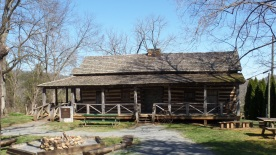 The Robert Young Cabin is the oldest standing dwelling in Johnson City. It was built in 1776 near Brush Creek and was moved to Winged Deer Park in 1996.