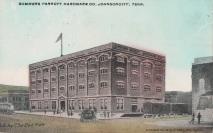 Summers-Parrott Hardware, downtown Johnson City. Postcard undated.