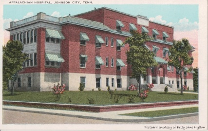 Appalachian Hospital later became the Memorial Hospital in Johnson City.