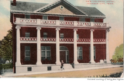 The Colonial Hotel was built in 1910 and was located at 215 East Market Street.