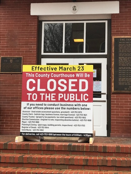Courthouse closed 2