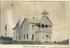Sulphur Springs High School, ca 1908