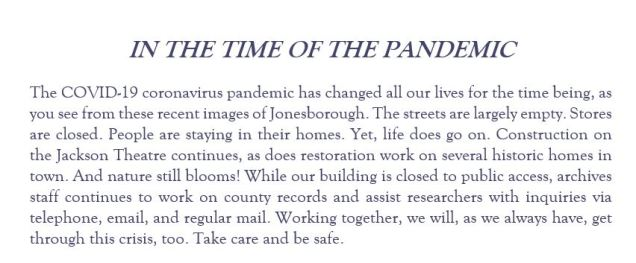 In the Time of the Pandemic