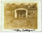 """""""The Cottages"""" was the country home of J. Franklin Deadrick and was located on Knob Creek. It was built around 1828 and torn down around 1930."""