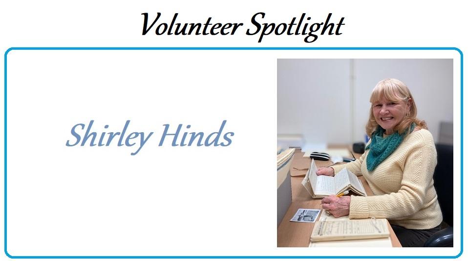Shirley Hinds, volunteer
