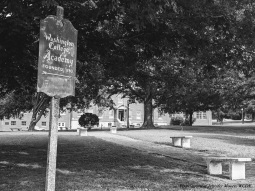Thanks to Jennifer Moore for this photograph of Washington College Academy, 2021. Founded in 1780, this is the oldest school in Washington County.